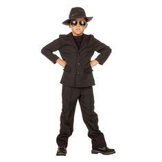 Gangster kostuum voor kids  Gangster kostuum voor kids. Dit gangster kostuum voor kids is gemaakt van polyester en bestaat uit een broek en colbert.  EUR 29.90  Meer informatie
