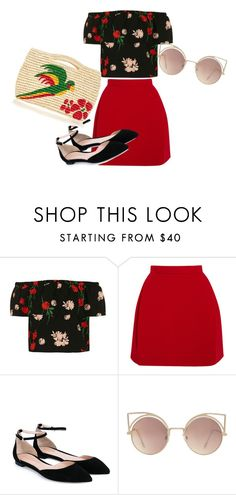 """""""Untitled #260"""" by bessieelna ❤ liked on Polyvore featuring Topshop, Delpozo, Gianvito Rossi, MANGO and Sensi Studio"""
