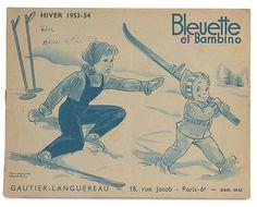 Bleuette et Bambino. Catalogue hiver 1953-54. Illustrations Manon Iessel