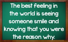 The best feeling in the world....