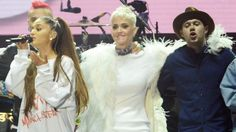 awesome Music News - Katy Perry Comforts Ariana Grande In New Video From Manchester Benefit Concert -  #MTV  #News