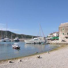 #Kroatien: Blick auf #Primosten #Sommerurlaub #Segeln