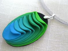 Polymer clay pendant   by tamishvat