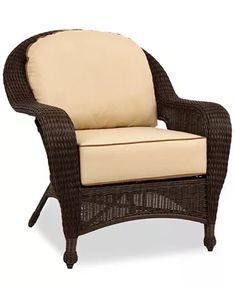 Furniture Monterey Wicker Outdoor Club Chair with Sunbrella® Cushions, Created for Macy's & Reviews - Furniture - Macy's