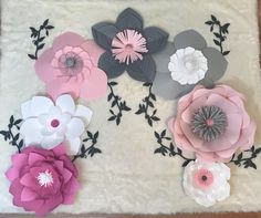 Paper Flower BackdropCUSTOMIZE YOUR ORDER by ArielleEliseDesigns