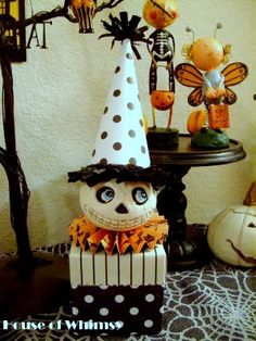 Lots of cute Halloween crafts over at House of Whimsy