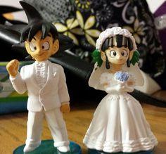 Goku Chichi Wedding Cake Toppers Uk