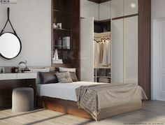 The Best 2019 Interior Design Trends - Interior Design Ideas Bedroom Closet Design, Master Bedroom Interior, Small Master Bedroom, Home Decor Bedroom, Modern Bedroom, 3 Living Rooms, Home Entertainment Centers, Interior Design, Decoration