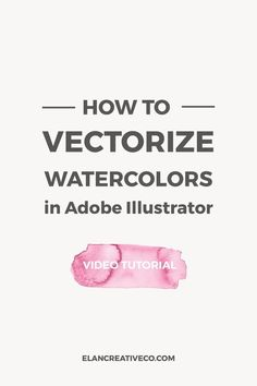 In this tutorial, I want to show you how to vectorize watercolors in Illustrator. This will help you scale your watercolors and you will have an easier time creating watercolor patterns or using watercolors in your Adobe Illustrator projects. #adobeillustrator #designtutorial #watercolors