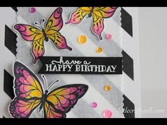 Coloring butterflies with prismacolor pencils - YouTube