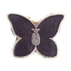 Vintage Black Butterfly Pin PINTRILL ($18) ❤ liked on Polyvore featuring jewelry, brooches, vintage butterfly brooch, butterfly jewelry, vintage brooches, pin jewelry and vintage jewellery