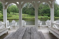 This is the interior of the dock/boathouse where we'll shoot the sunset dinner.