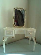 Vintage 1960u0027s SINDY Doll BEDROOM Furniture WHITE DRESSING TABLE