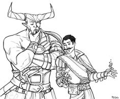 psdo:   Dorian's relationship with the Iron Bull is interesting. The Qunari have been at war with the Tevinter Imperium for centuries, after all, and the fact that neither Dorian nor Iron Bull are typical of their people makes for an intriguing arc.  you have my interest