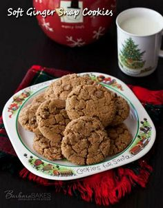 Soft Ginger Snap Cookies Recipe ~ A soft molasses cookie with warm winter spice,s cinnamon and ginger, and studded with cinnamon chips for an extra layer of cinnamon deliciousness... These cookies would also be delicious with semi-sweet chocolate chips, white chocolate chips, or even with no chips at all