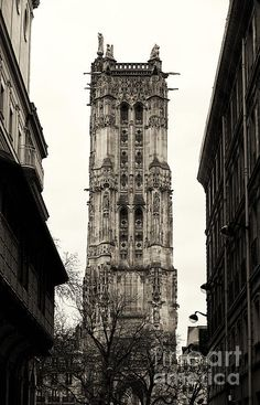 Saint Jacques Tower Photograph by John Rizzuto