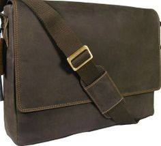 New Visconti brown leather laptop briefcase messenger bag 18516: Amazon.co.uk: Shoes & Bags