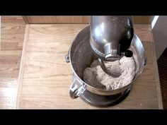 Making Bread/Pizza Dough with Fresh Yeast using the KitchenAid Pro 600 6 qt. Mixer - YouTube