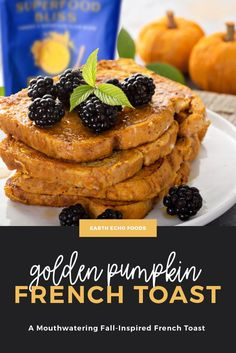 Start your fall morning with the ultimate pumpkin french toast. This breakfast is made with only clean ingredients, making this a delicious and totally guilt-free breakfast treat. Plus, not only does the Golden Superfood Bliss add a dose of superfoods, but it also creates the most beautiful fall colors on your toast. It's quick and easy to make and will satisfy all of your fall breakfast cravings. Pumpkin French Toast, Fall Breakfast, Guilt Free, Autumn Inspiration, Superfood, Cravings, Smoothies, Treats, Healthy