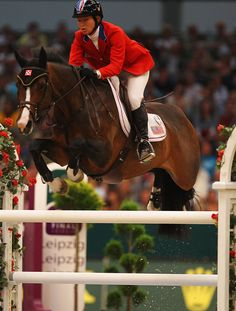 Beezie Madden one of my favorite riders on one of my favorite horses...VIA! :) I think my horse looks like her. <3