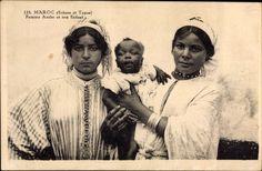 Ansichtskarte / Postkarte Marokko, Maroc, Scènes et Types, Femme Arabe et son Enfant