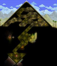 Hello, and welcome to the Creation Compendium. Terraria House Design, Terraria House Ideas, Terraria Tips, Minecraft Blueprints, Minecraft Houses, Minecraft Pyramid, Terraria Castle, Minecraft Creations, Game Design