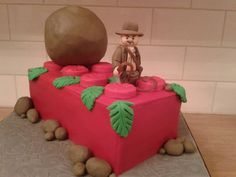 Indiana Jones and Lego cake by david.pook, via Flickr
