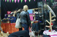 Some customers browsing the Tanya John for Elefair collection!