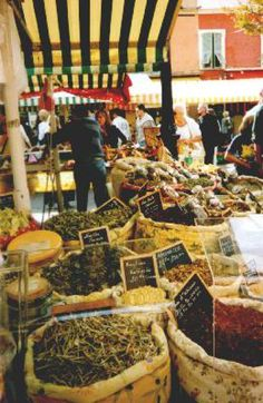 A Guide to Markets in Nice, France: The Nice Flower Market runs almost every morning on the Cours Selaya.