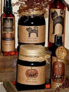 primitive halloween labels instant down load - Seasonal & Holiday ...