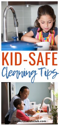 Twin Cities Kids Club Blogs: Kid-Safe Cleaning Tips - A lot of the chemicals that are on the market are not safe for children. They are filled with harsh chemicals, skin irritants, and VOC's (Volatile Organic Compounds). As parents, we want to keep our littles safe and keep our homes clean. | Cleaning | Safe Cleaning | Kids | Kid-safe Cleaning | Cleaning Products | Parenting Activities For 2 Year Olds, Indoor Activities, Infant Activities, Educational Activities, Safe Cleaning Products, Cleaning Hacks, Kids And Parenting, Parenting Hacks, Children Toys