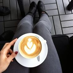 a coffee a day, keeps the doctor away ☕️😁 . Coffee Date, Latte, Tableware, Instagram Posts, Foods, Drinks, Girls, Food Food, Drinking