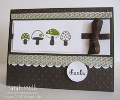 Mushrooms in a Row by willsygirl - Cards and Paper Crafts at Splitcoaststampers