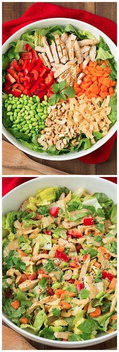 Thai Chicken Salad with Orange Peanut Dressing