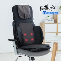 Deep Rolling Kneading Back Massage Seat Cushion with Heat, Adjustable Neck Massager with Pillow Pad for Neck Shoulder Back Relief - Exclusive Spring Support Design: Upgraded 8 Flexible Massage Nodes for Full Back -Height-adjustable Neck Massage: Th Neck Part Massage fits for Men and Women with different Heights - 4 AirBags Provides Powerful Air Compression Massage, Optional for Back or Seat Only - Spot Massage for Entire Back - Removable Neck Cover and Full Flap for Back & Neck Neck Massage, Massage Chair, Gifts For Dad, Fathers Day Gifts, Sore Muscle Relief, Neck And Back Massager, Back Relief, Shoulder Muscles, Sore Muscles