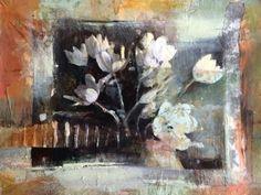 "Exuberance-Floral by Joan Fullerton Mixed Media ~ 11"" x 15"""