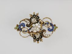 Ornamental Jewelry for Sewing on Clothing. Gold, enamel, pearls. Europe, 16th century.