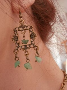 Victorian Chandelier earrings middle ages by VixLpCreations, $20.00