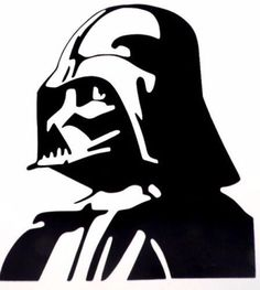 "Pochoir artisanal inspiration ""Star Wars - Dark Vador"" - Mylar - 21 cm x cm - Royaume-Uni Stencil Graffiti, Stencil Art, Graffiti Art, Stencil Fabric, Star Wars Silhouette, Superman Silhouette, Darth Vader Stencil, Star Wars Stencil, Star Wars Party"