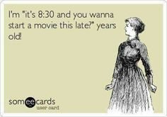 Movies must start 8pm or earlier...