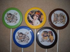 "1 Chocolate Edible Decal 3"" Max Where the Wild Things Are Lollipops Lollipop"