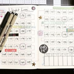 This is my new Weight Loss Tracker. I have been eating way too much junk food this past year. . . . #bulletjournal #bujo #bulletjournaling #bujojunkies #bulletjournaljunkies #bulletjournallove #bulletjournalcommunity #planner #bujolove #leuchtturm1917 #bujocommunity #planneraddict #journal