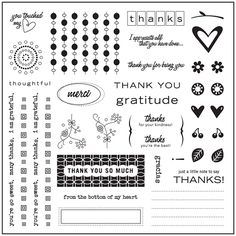 "Fiskars - 8"" X 9"" Clear Stamp Set - Thank You,$15.50"