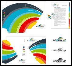 35 Creative Presentation Folder Designs for Identity Branding Letterhead Examples, Letterhead Design, Brochure Design, Branding Design, Web Design, Graphic Design, Print Design, Folders, Folder Design