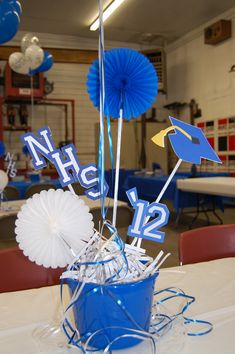 Easy centerpieces.... Grad time will be here soon.  :-)