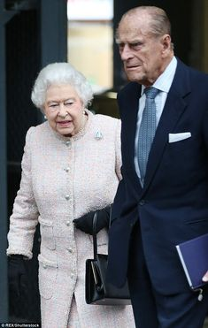 The 89-year-old monarch was spotted boarding a train at King's Cross Station alongside her husband Prince Philip this morning