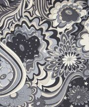 Liberty fabric. love the swirls and movement in this - made even stronger by the lack of colour