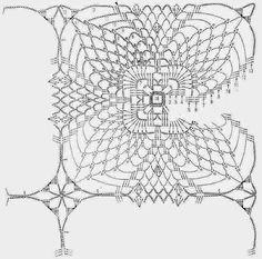 Crochet Art: Cochet Doily Pattern - Very Nice Crochet Art, Thread Crochet, Filet Crochet, Vintage Crochet, Crochet Stitches, Easy Crochet, Crochet Motif Patterns, Crochet Blocks, Crochet Squares
