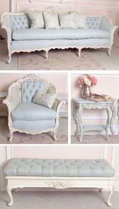 Amazing Cool Ideas: Shabby Chic Home Decorating shabby chic rustic ceilings.Shabby Chic Vanity Girly shabby chic home decorating. Shabby Chic Mode, Vintage Shabby Chic, Shabby Chic Style, Shabby Chic Decor, Vintage Decor, Vintage Modern, Shabby Chic Couch, Vintage Style, Shabby Chic Coffee Table