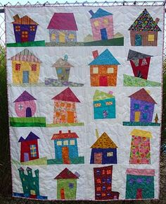 Wonky House Quilt -- so cute!